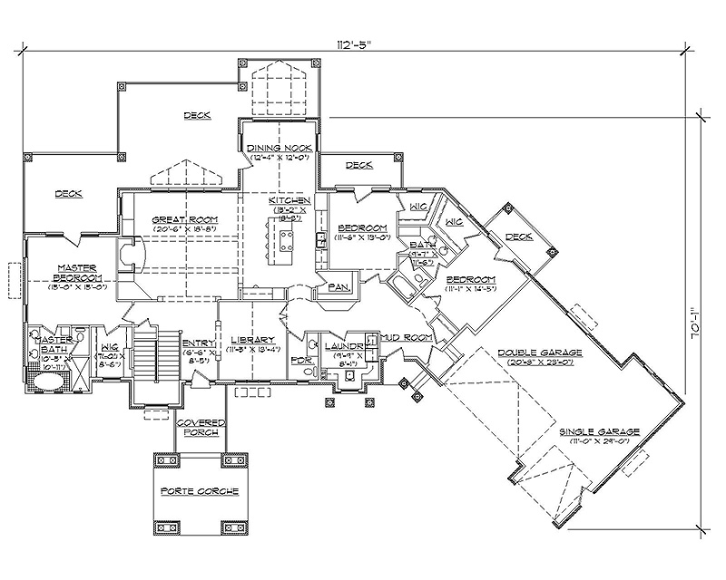 Barrier free one level floor plans over 5000 house plans for Barrier free house plans